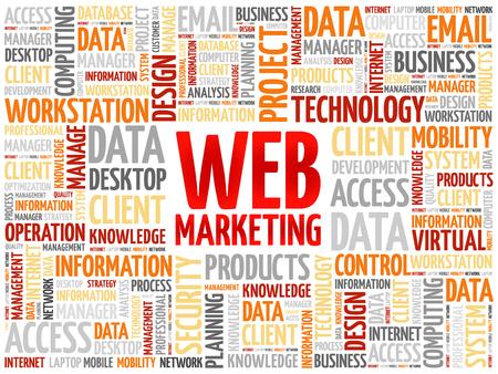web marketing: Web Marketing word cloud concept