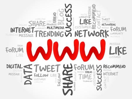 WWW の単語の雲、ビジネス コンセプト