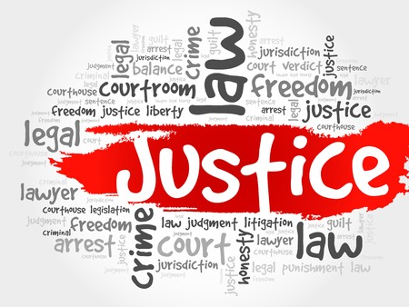 inequality: Justice word cloud concept