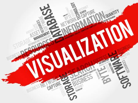 visualization: Visualization word cloud, business concept Illustration