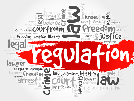 conduct: Regulation word cloud concept