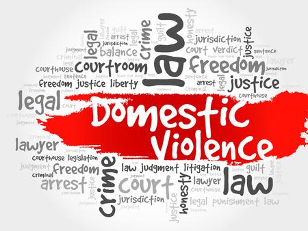 domestic violence: Domestic Violence word cloud concept Illustration