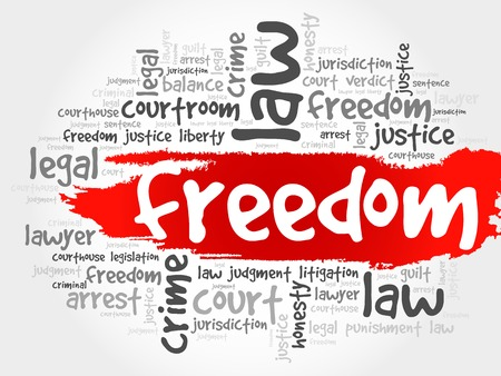 freedom concept: Freedom word cloud concept Illustration
