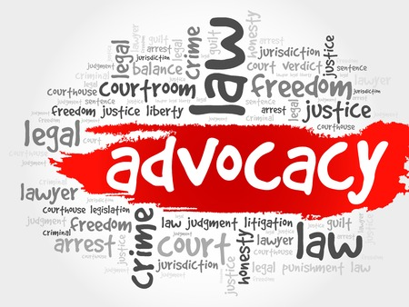 justification: Advocacy word cloud concept