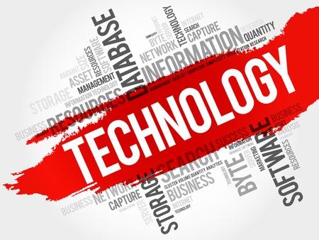 cloud technology: Technology word cloud, business concept