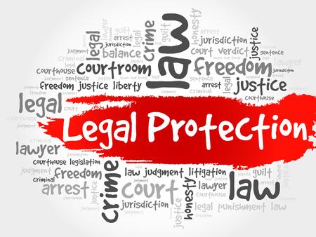 jurisdiction: Legal Protection word cloud concept