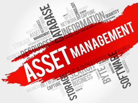 asset: Asset Management word cloud, business concept