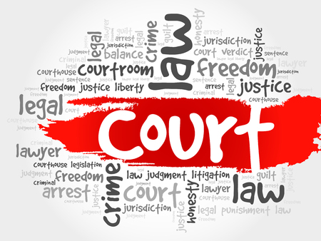 attorney: Court word cloud concept