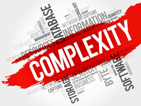 Complexity word cloud, business concept Illustration