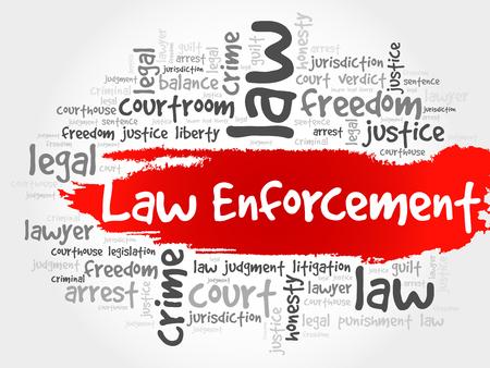 barrister: Law enforcement word cloud concept