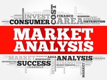 costumer: Market Analysis word cloud, business concept