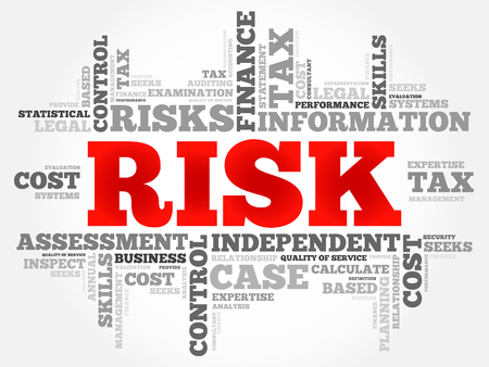 choosing selecting: RISK word cloud, business concept