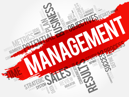 Management word cloud, business concept background