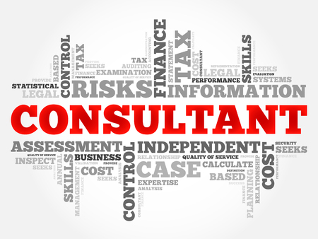 consultant: CONSULTANT word cloud, business concept