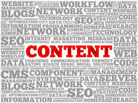 meta data: CONTENT word cloud, business concept