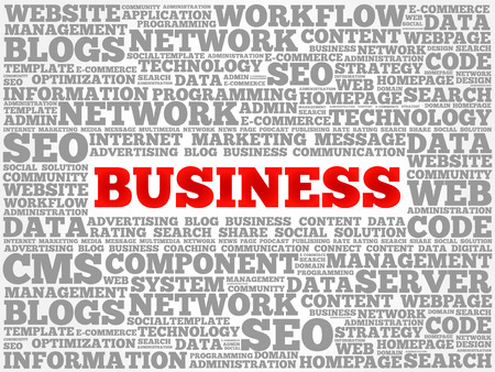 business collage: BUSINESS word cloud collage, business concept background