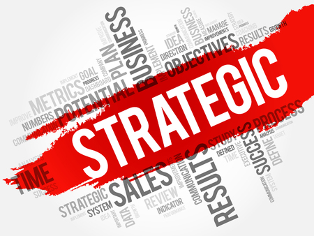 Strategic word cloud, business concept