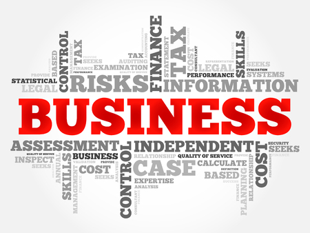 teaming: Business word cloud collage, business concept background Illustration