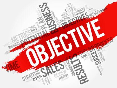 cohesive: Objective word cloud, business concept