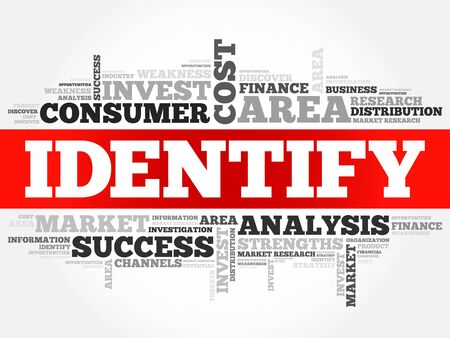identify: Identify word cloud, business concept