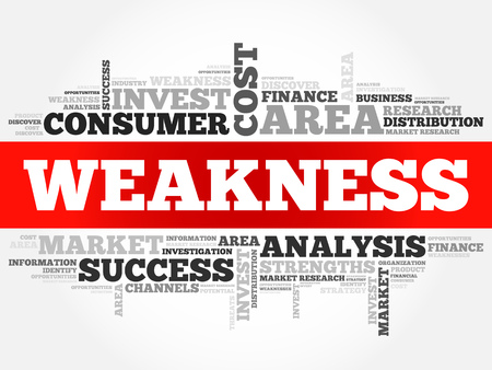 stakeholder: Weakness word cloud, business concept Illustration