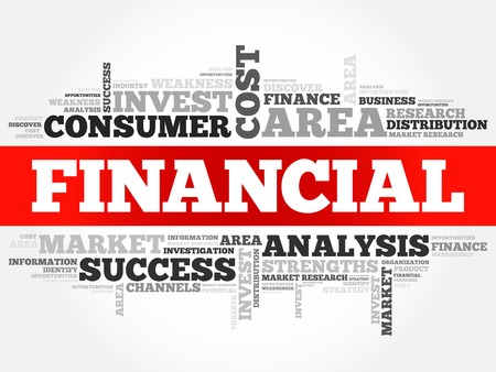 financial advisors: Financial word cloud, business concept