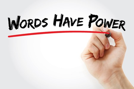 Hand writing Words Have Power with marker, concept background Stock Photo