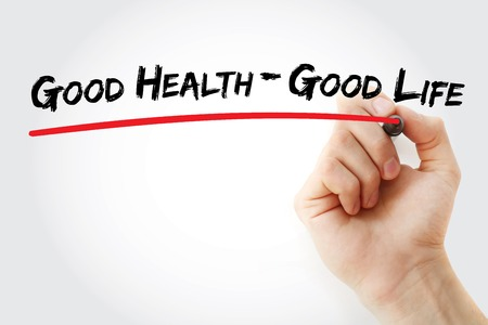 Hand writing Good Health - Good Life with marker, concept background Фото со стока