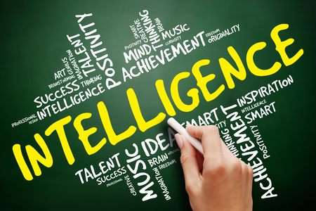 Intelligence word cloud, education concept Stock Photo