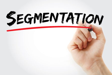 relationsip: Hand writing Segmentation with marker, concept background