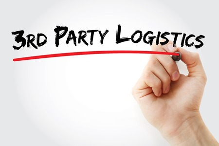 Hand writing 3rd Party Logistics with marker, concept background Stock Photo