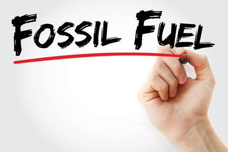 fossil fuel: Hand writing Fossil fuel with marker, concept background