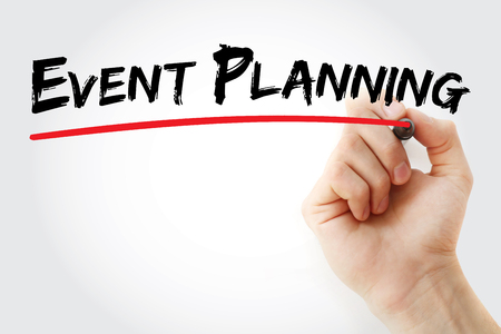 coordinating: Hand writing Event planning with marker, concept background