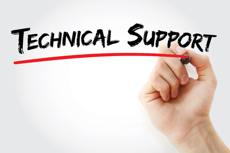 escalation: Hand writing technical support with marker, concept background Stock Photo