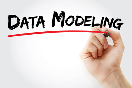 semantic: Hand writing data modeling with marker, concept background Stock Photo
