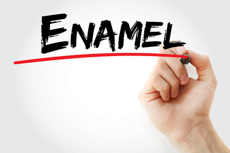 enamel: Hand writing Enamel with marker, concept background