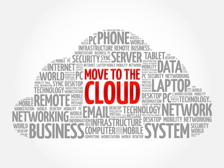 remote server: Move to the Cloud word cloud concept