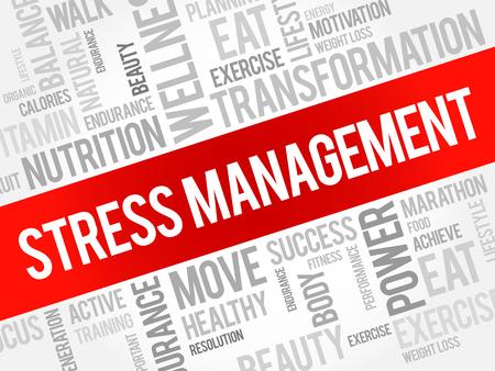 transactional: Stress Management word cloud, health concept Illustration