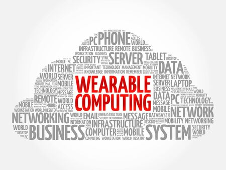 body guard: Wearable Computing word cloud concept Illustration