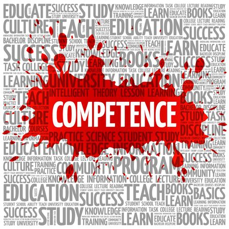 technologys: COMPETENCE word cloud, business concept background