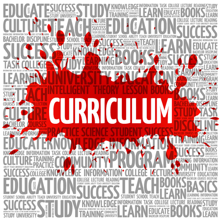 extramural: CURRICULUM word cloud, education business concept background Illustration