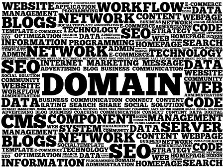 DOMAIN word cloud, business concept Illustration