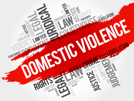 Domestic Violence word cloud concept Stock Illustratie
