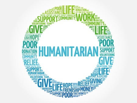 altruism: Humanitarian word cloud collage, concept background Illustration