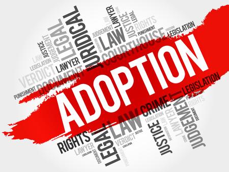 foster: Adoption word cloud concept Illustration
