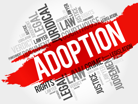 Adoption word cloud concept Illustration