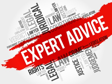 asesoramiento de expertos nube de palabras concepto