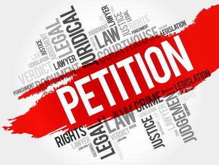 obtain: Petition word cloud concept Illustration