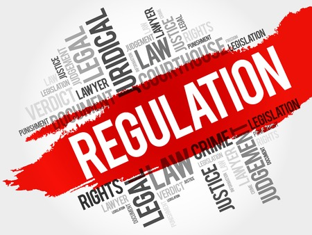 enforce: Regulation word cloud concept