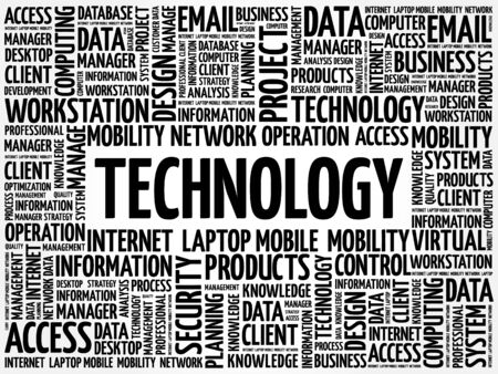 advanced computing: Technology words cloud